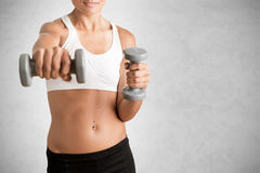 Woman Working Out Royalty Free Stock Photography