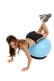 Woman Working Out On Exercise Ball 6 Stock Photos