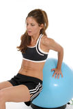 Woman Working Out On Exercise Ball 7 Royalty Free Stock Photography