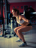 Woman working out in fitness - Active girl Royalty Free Stock Image