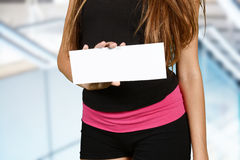 Woman Working Out royalty free stock image