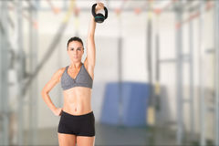 Woman Working Out With a Kettlebell Stock Image