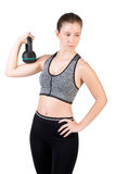 Woman Working Out With a Kettlebell Royalty Free Stock Photo