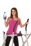 Woman working out pink water Stock Photos