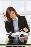 Woman working with papers Royalty Free Stock Photo