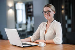 The woman working Royalty Free Stock Images