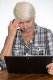 Woman working with tablet pc Royalty Free Stock Photo