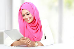 Woman working with tablet Stock Photography