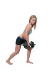 Woman Working with Weights Royalty Free Stock Photo