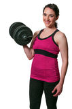 Woman Working with Weights Royalty Free Stock Photos