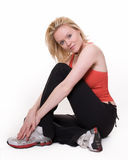 Woman in workout attire Stock Photo