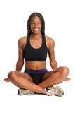 Woman In Workout Clothes Sitting Stock Images