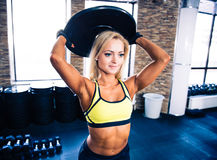 Woman workout at crossfit gym Royalty Free Stock Photo