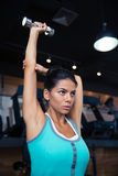 Woman workout with dumbbell Royalty Free Stock Photography