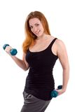 Woman Workout Dumbbells Royalty Free Stock Photos