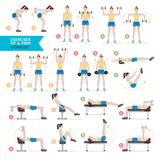 Woman workout fitness, aerobic and exercises. Vector Illustration. royalty free illustration