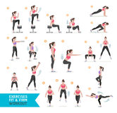 Woman workout fitness, aerobic and exercises. Royalty Free Stock Photos