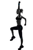 Woman workout fitness posture Stock Photography