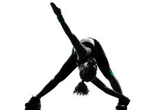 Woman workout fitness posture Royalty Free Stock Images