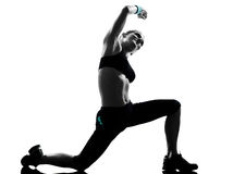 Woman workout fitness posture Stock Image
