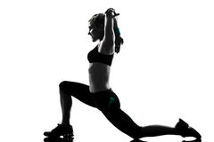 Woman workout fitness posture Royalty Free Stock Image