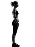 Woman workout fitness posture standing Royalty Free Stock Photo
