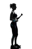 Woman workout fitness posture weight training Stock Photography