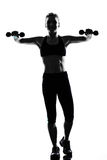 Woman workout fitness posture weight training stock photo
