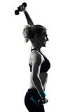 Woman workout fitness posture weight training Royalty Free Stock Photo