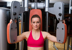 Woman workout in gym Stock Images