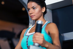 Woman workout in gym Royalty Free Stock Photo