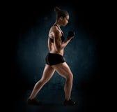 Woman workout stock image
