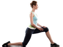 Woman Workout Posture fitness Stock Photography
