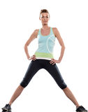 Woman workout posture Royalty Free Stock Photo