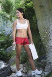 Woman In Workout Wear At Park Stock Photos