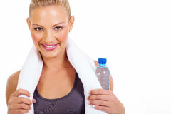 Woman after workout Stock Image