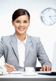 Woman at workplace Royalty Free Stock Photography