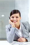 Woman at workplace Royalty Free Stock Photo