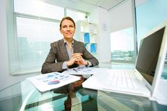 Woman at workplace Royalty Free Stock Photos