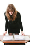 Woman works with documents Stock Photos