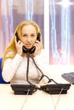 Woman works in office. Stock Image