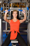 Woman works out in a gym Royalty Free Stock Images