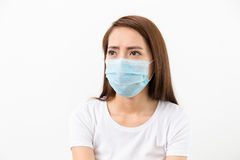 Woman worry about MERS Royalty Free Stock Images