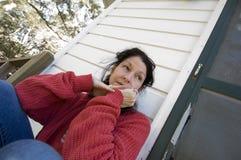 Woman worrying Stock Photo
