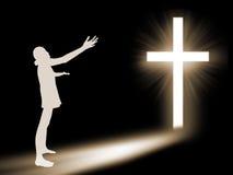 Woman  worship to God Stock Photography