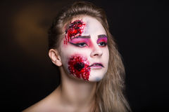 Woman wound Stock Image