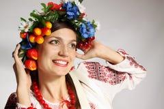 Woman in a wreath Stock Photos