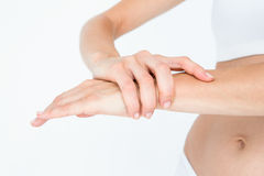Woman with wrist pain Stock Photo