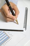Woman Write On Agenda Royalty Free Stock Images