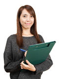 Woman write report Royalty Free Stock Image
